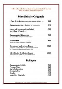 Neue Karte 2. Schwäbische Küche Beilagen ab 01.04.2019 PDF